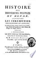 Histoire des différens peuples du monde