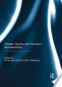 Gender Quotas and Women's Representation