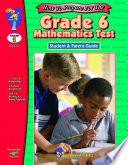 Grade 6 Math Test   Parent Guide
