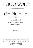 Gedichte von Goethe
