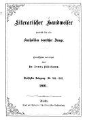 Literarischer Handweiser zun  chst f  r alle katholiken deutscher Zunge