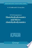 IUTAM Symposium on Elastohydrodynamics and Micro elastohydrodynamics