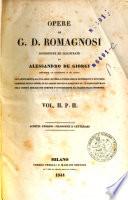 Opere di G  D  Romagnosi