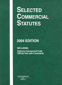 Selected Commercial Statutes, 2004 Ed