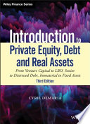 Introduction to Private Equity, Debt and Real Assets