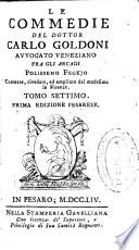 Le commedie del Dottor Carlo Goldoni