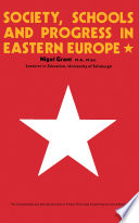 Society, Schools and Progress in Eastern Europe