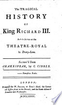 The Tragical History of King Richard III.