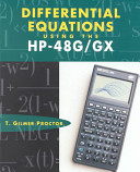Differential Equations Using The Hp 48g Gx