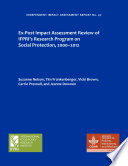 Ex Post Impact Assessment Review Of Ifpri S Research Program On Social Protection 2000 2012