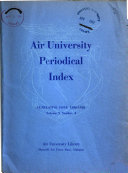 Air University Periodical Index