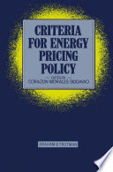 criteria for energy pricing policy