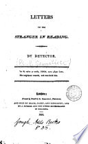 Letters to the stranger in Reading  by Detector
