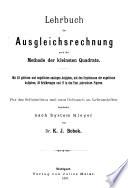 Lehrbuch der Ausgleichsrechnung