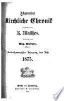 Allgemeine kirchliche Chronik