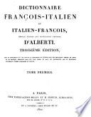 Dictionnaire françois-italien et italien-françois