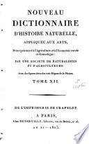 Nouveau dictionnaire d histoire naturelle  appliqu  e aux arts  principalement    l agriculture     l   conomie rurale et domestique