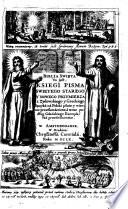 Biblia swieta etc   Die heil  Schrift des alten und neuen Testaments