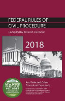 Federal Rules of Civil Procedure and Selected Other Procedural Provisions