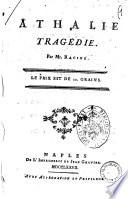 Athalie tragedie par Mr  Racine
