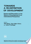 Towards a Re Definition of Development
