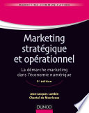 Marketing strat  gique et op  rationnel   9e   d