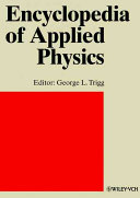 Encyclopedia of Applied Physics  Sonoluminescence to Steel