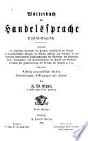 W  rterbuch der handelsprache  Deutsch englisch  3e aufl