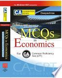 MCQs IN ECONOMICS FOR CA CPT