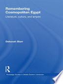 Remembering Cosmopolitan Egypt