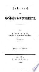Lehrbuch der Geschichte des Mittelalters