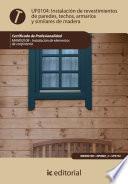 Instalaci  n de revestimientos de paredes  techos  armarios y similares de madera  MAMS0108