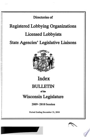 Bulletin of the Proceedings of the Wisconsin Legislature