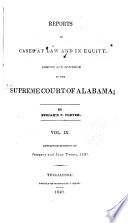 Reports of Cases Argued and Adjudged in the Supreme Court of Alabama