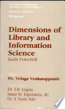 Dimensions of Library and Information Science