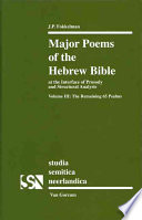 Major Poems of the Hebrew Bible  The remaining 65 Psalms