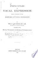 Principles of Vocal Expression