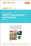 Contemporary Orthodontics   Pageburst E Book on Kno  Reail Access Card