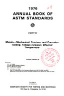 Book of ASTM Standards  with Related Material