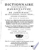 Dictionnaire universel d agriculture et de jardinage  de fauconnerie  chasse  p  che  cuisine et man  ge