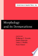 Morphology and Its Demarcations