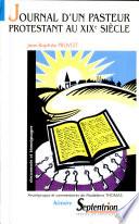 Journal d'un pasteur protestant au XIXe siècle
