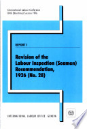Revision of the Labour Inspection  Seamen  Recommendation  1926  no 28