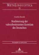 Realisierung der valenzbestimmten Korrelate des Deutschen
