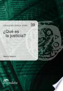 Qu Es La Justicia  book