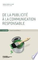De la publicit      la communication responsable