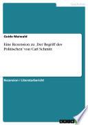 Eine Rezension zu    Der Begriff des Politischen    von Carl Schmitt