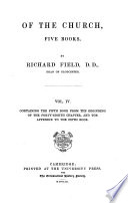 Of The Church Five Books book