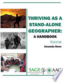 Thriving as a Stand Alone Geographer  A Handbook