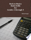 Back To Basics Math Drills For Grades 3 Through 5 book